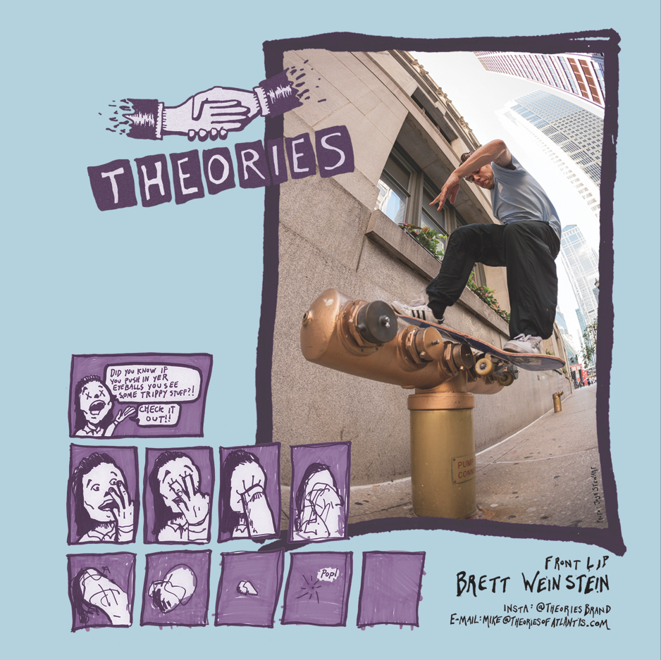Theories ad from North Mag. Design by Pat Stiener. Photo by Stewart