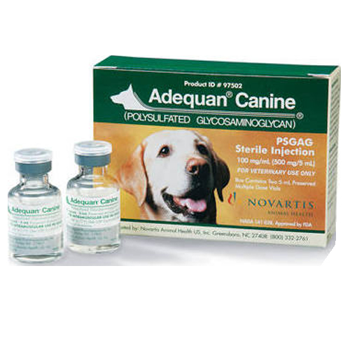 $125. Adequan Adequan is another supplement that helps promote healthy cartilage in joints and can help increase range of motion. Many of our sponsored animals are on this injection for life. The dosage varies but on average $100 can assist one of our sponsored pets for about 4 months.