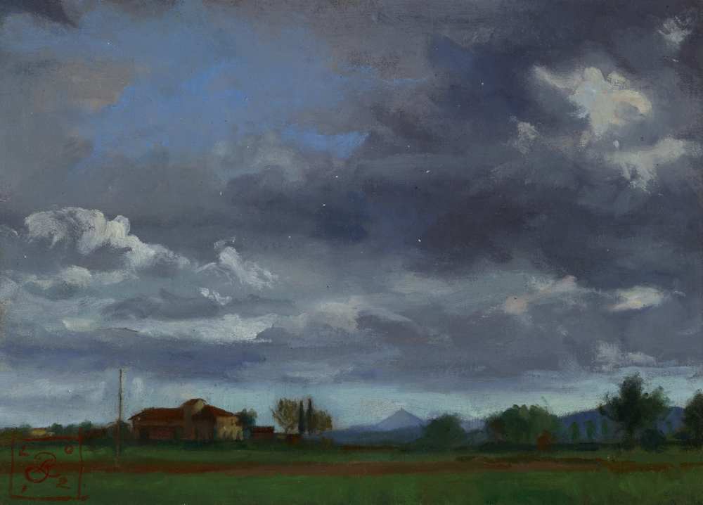 Field with Storm Passing