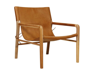 Delicieux Tan Leather Sling Chair