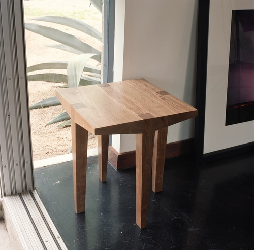 Tables maek furniture chisel small square table cherry wood 2005 production prototype 18w x 18 watchthetrailerfo