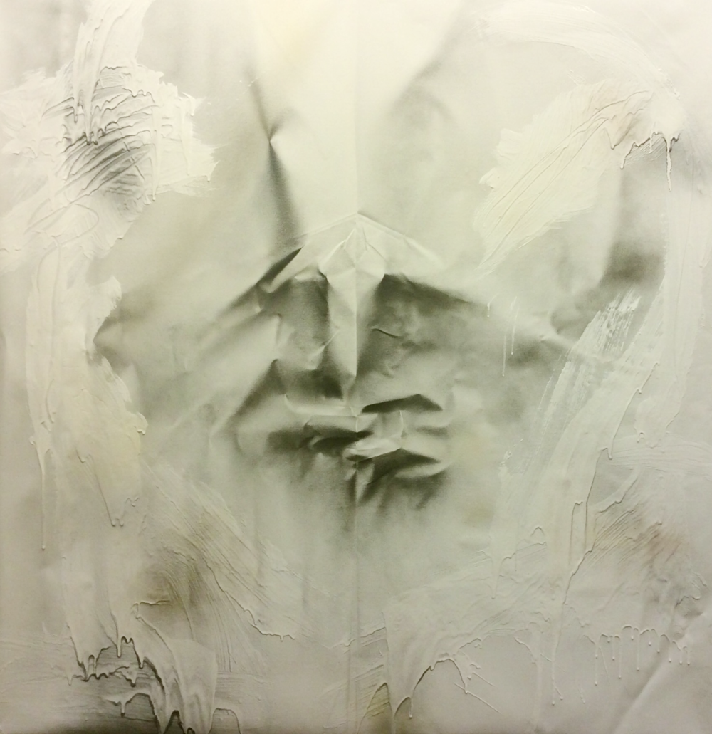 Aimee Joaristi, Silencio / Silence II, mixed media on canvas, 150 x 150 cm. 2014