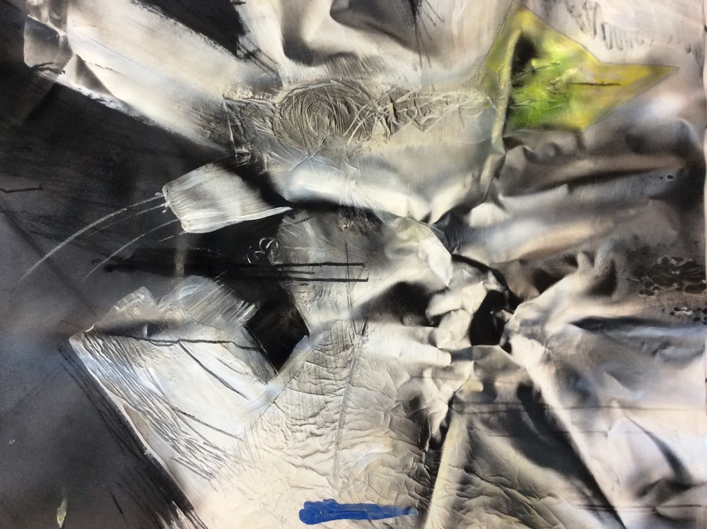 Pecado / Sin, técnica mixta sobre lienzo, 150 x 150 cm. 2015.