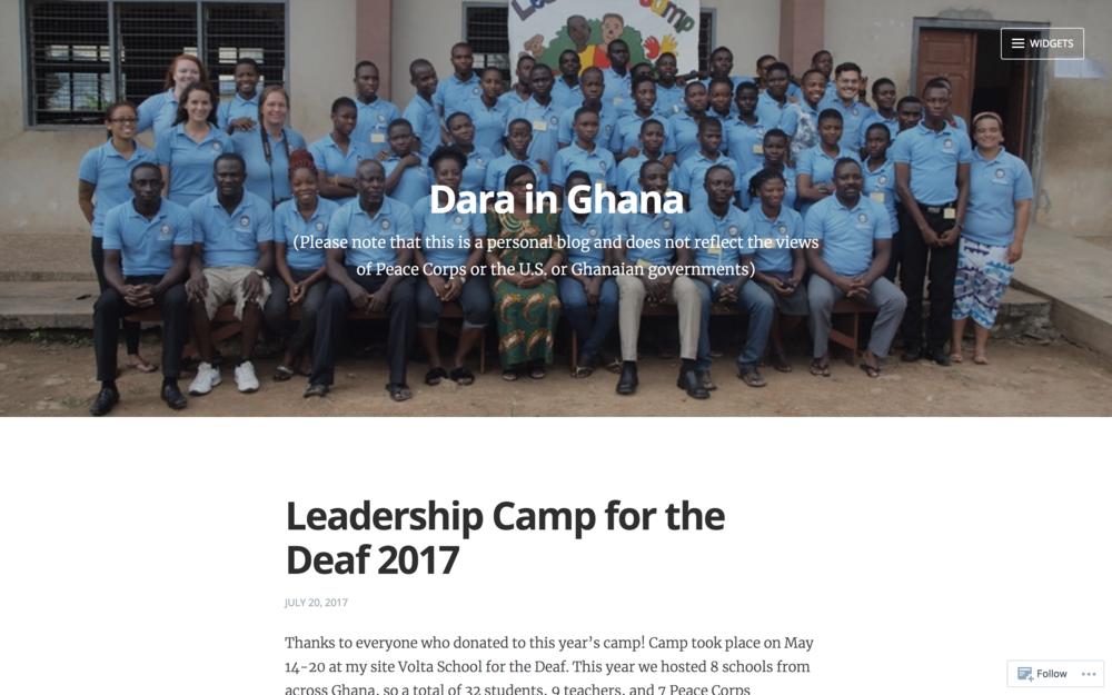 Dara in Ghana Blog