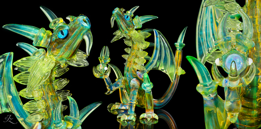 Warlock Dragon made by Alex Ubatuba and Scoz during the 2015 Seattle PipeMasters Collab. Not For Sale.
