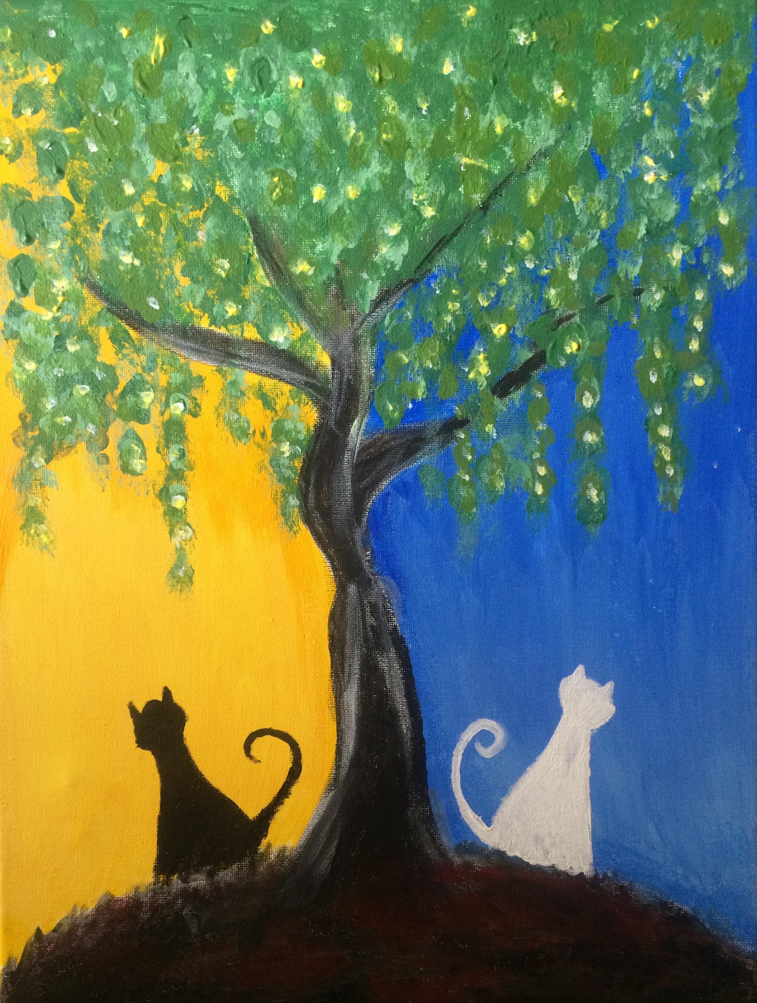 Arts Cats Night And Day Kitties Denver Cat Company