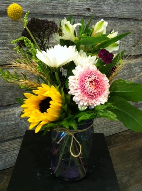 mason jar arrangement -
