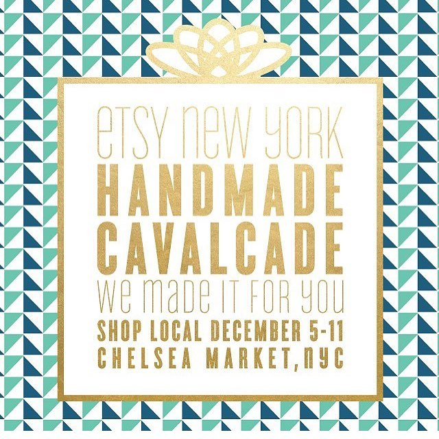 Very excited to be selling at @chelseamarketny all next week with @etsyny ❤️ Be sure to visit www.handmadecavalcade.com to get all the details for the event! There is even an RSVP list to be sure you can skip some of the lines this year! Shop all your favorite @etsy #nyc vendors for the best #handmade gifts! #trunkshow #stationery #homedecor #art #interiordesign #chelseamarket #etsy #etsywholesale #etsysuccess