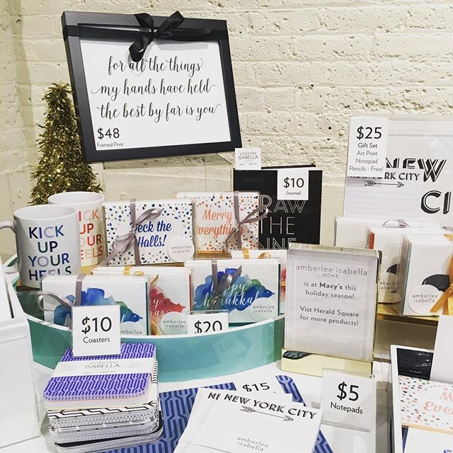 Something for everyone on your #holidaygift list! Framed art, mugs, pencils, journals, notepads and coasters! Shop us @chelseamarketny during the @etsyny #handmadecavalcade all this week! #stationery #homedecor #etsyseller #etsyshop #etsywholesale @etsysuccess @etsy