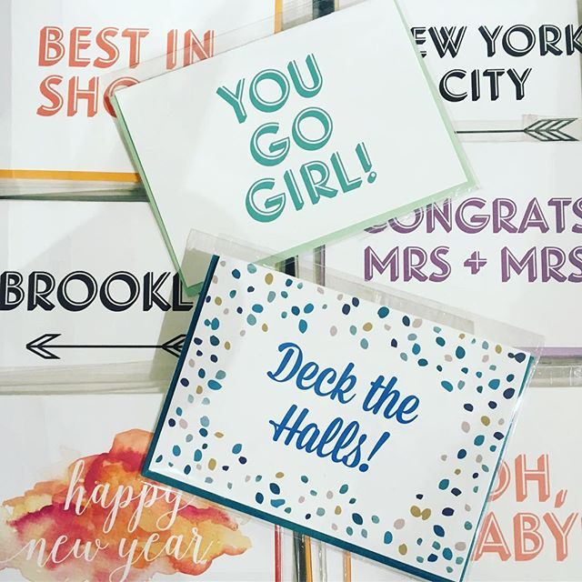 It's may be the holiday season but we have cards for every occasion! Stop by @etsyny #handmadecavalcade @chelseamarketny now through Sunday to pick up a card or gift for someone on your list! #handmade #retail #chelseamarket #stationery #etsy #art #etsysuccess