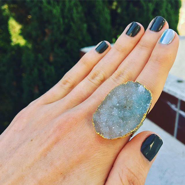 🌠NewRoxity Way Druzy 🌌 #gems #druzy #raw #stars #rings #bigrings #statementring #newroxity #nwrxty #jewelryoftheday