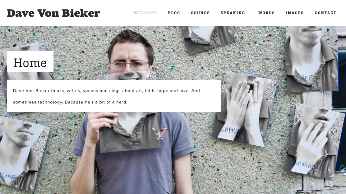 davevonbieker website screenshot