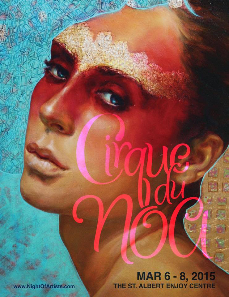 Cirque Du NOA poster from Night of Artists website here.