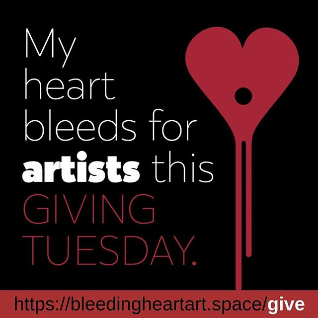 Dear friends.  Today is Giving Tuesday - an international day of giving that is part of a larger global movement.  It's with optimism that we honour this special day and ask that you to donate online to our space-a space that has become a community hub and a haven for countless artists since 2012.  Any bit helps us contribute to Alberta Avenue revitalization and community empowerment. Whether you can spare $5 or $50 - it all adds up (and we are grateful!). Thank you for considering helping us help artists this Giving Tuesday.  In faith, -The Bleeding Heart Lead Creative Team. #givingtuesday #yeg #yegarts #givelocal #bleedingheartartspace