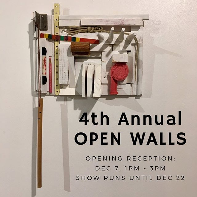Open Walls: An unjuried show where anyone is invited to contribute one piece to a community gallery and we welcome beauty in whatever form is ours to receive.  #yegarts #yeggallery #communityspace #artspace #sacredspace