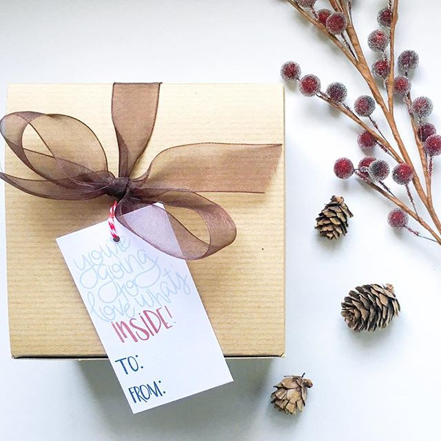 You have until tomorrow to get this gift tag and other paper goodies in the shop for 20% off!
