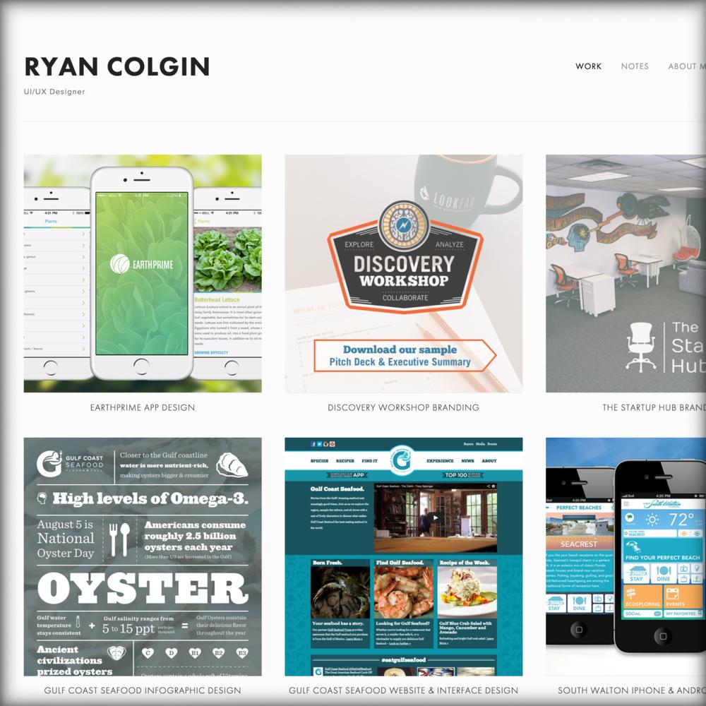 www.RyanColgin.com  Ryan Colgin UI/UX Designer New Orleans, LA