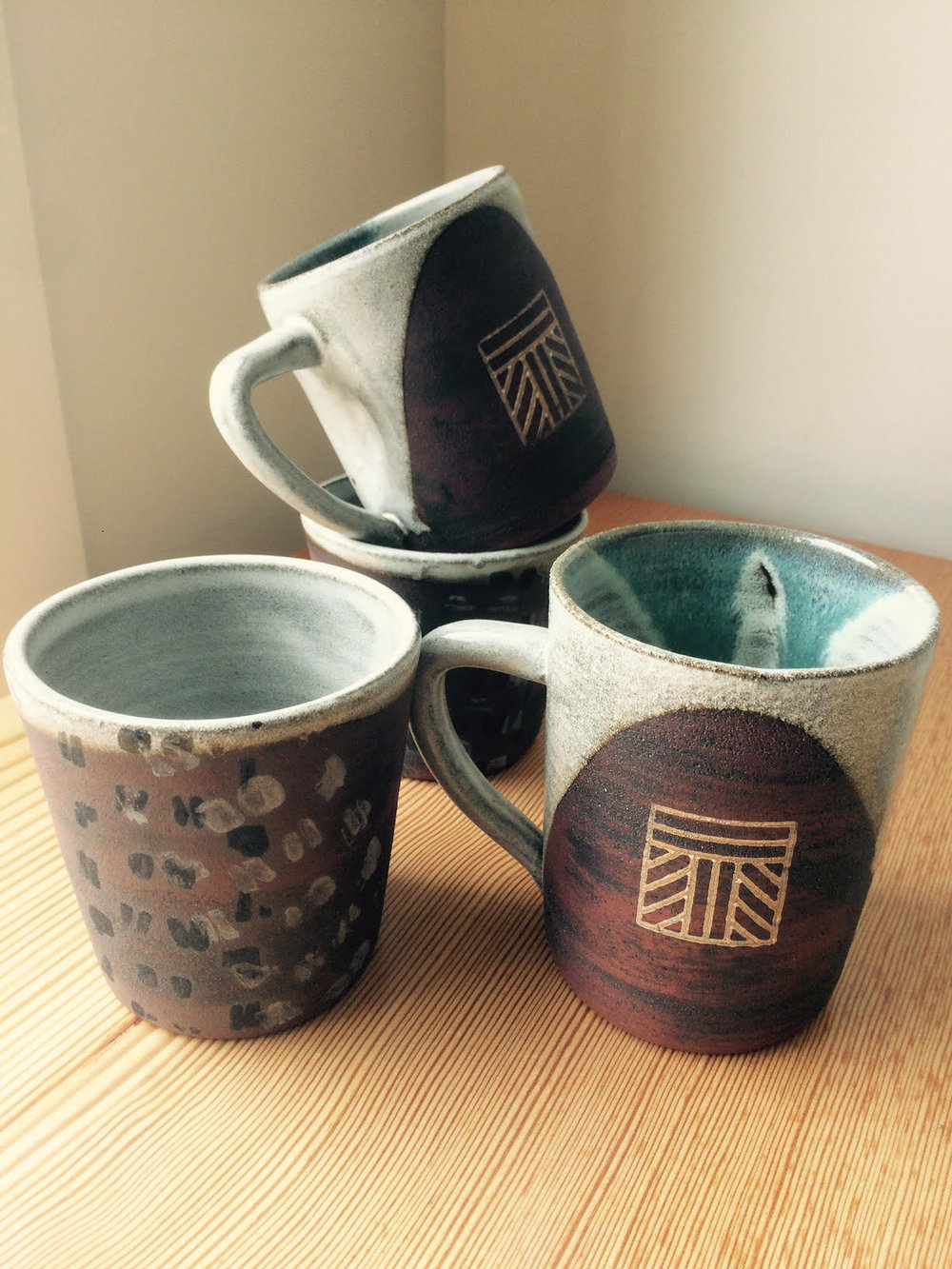 New Triumph Mugs by Kim Dow Pottery