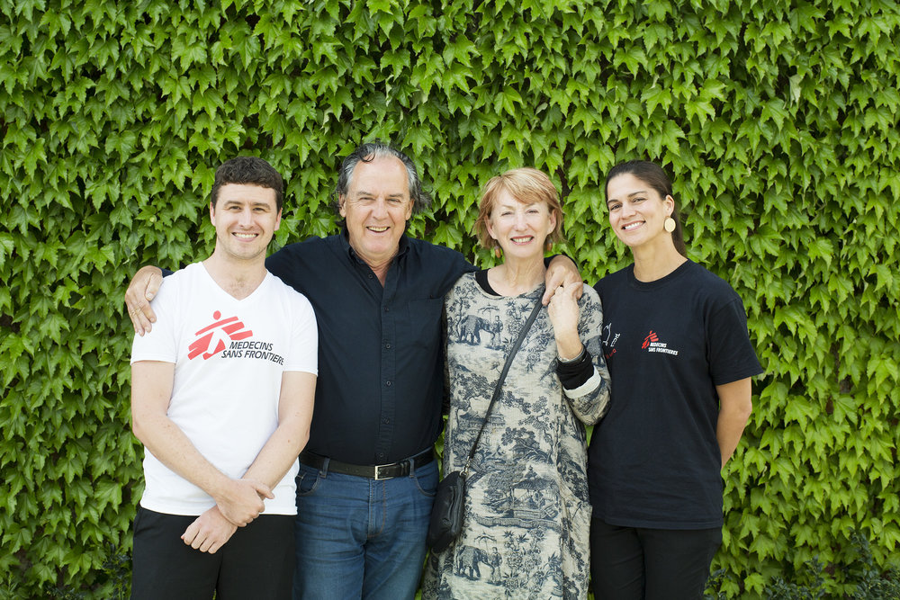 Left to right: Liam Hannon (MSF Emergency Doctor), Steve and Vonnie Frazer (Meletos and Stones of the Yarra Valley Proprietors) and Trish Schwerdtle (MSF Board of Directors).