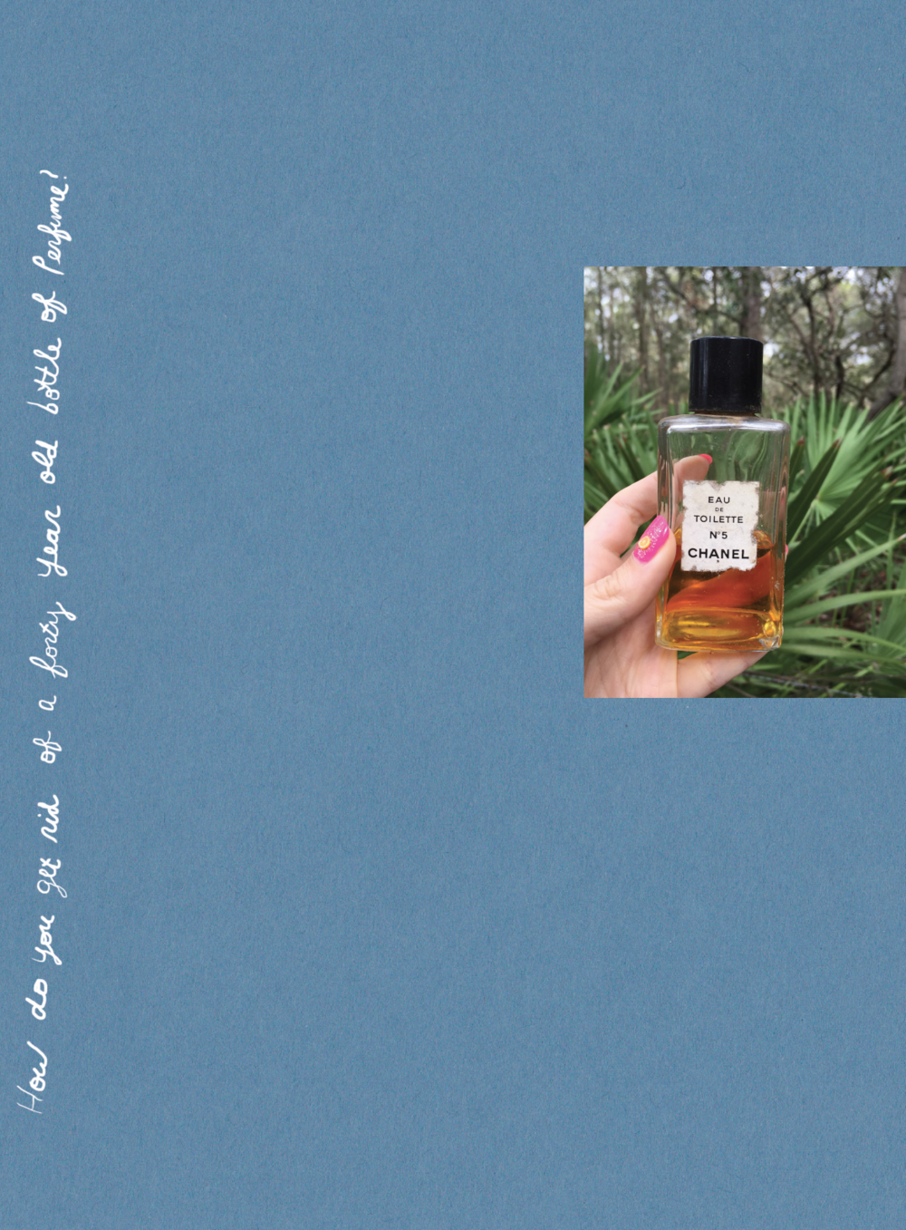How do you get rid of a forty year old bottle of perfume? , Essay by Roz Crews with drawings by Suzanne Crews, published by Sunday Painter Press, July 2017.   $30 (available)    Roz Crews created this exhibition in book form as a gift for her mom, Suzanne Crews. Inside you'll find a collection of drawings Suzanne made on envelopes, receipts, and credit card statements along with an essay Roz wrote about the value of valuing your own work.