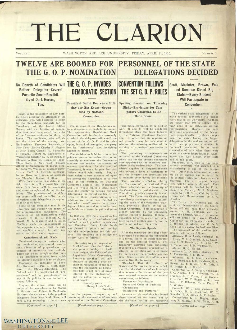 1916 -- A BULL MOOSE PUSH