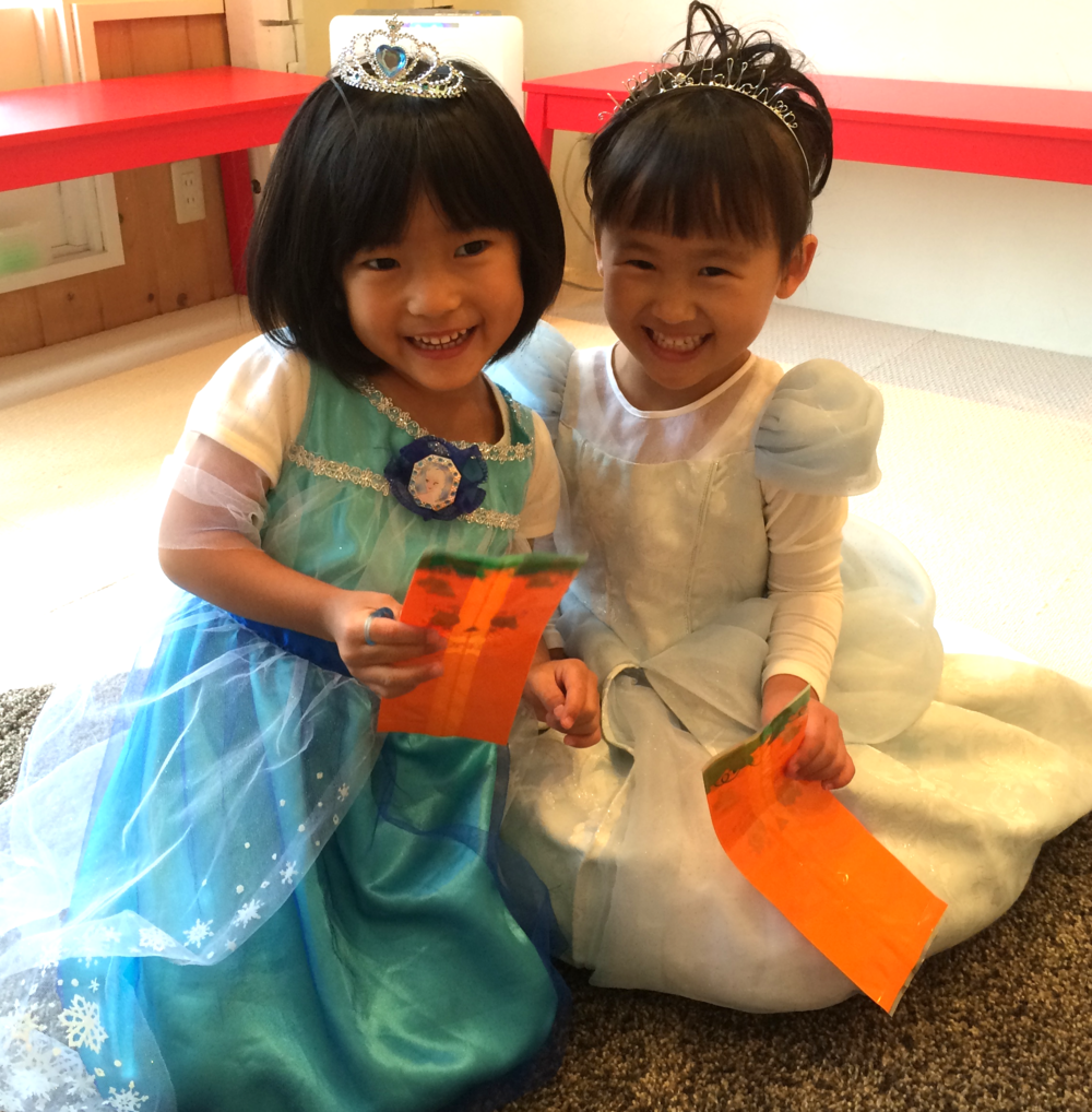 Happy Halloween!!!  We are princesses!!!!!! Let's go trick or treating!