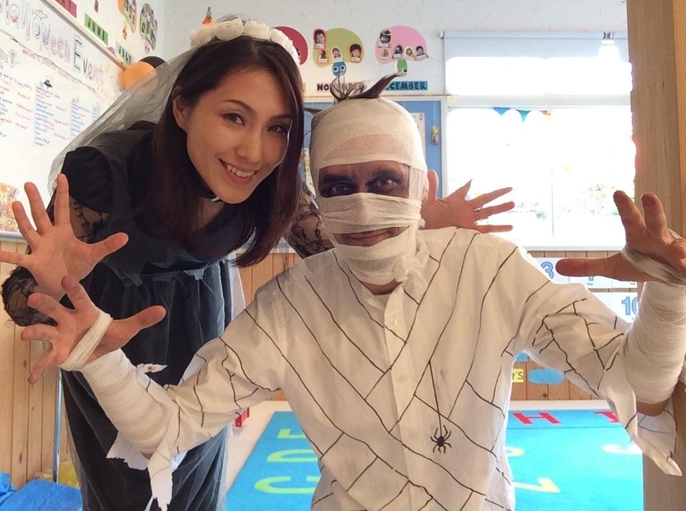 今年は Ghost bride(お化けの花嫁) と Mummy(ミイラ)に決定☆