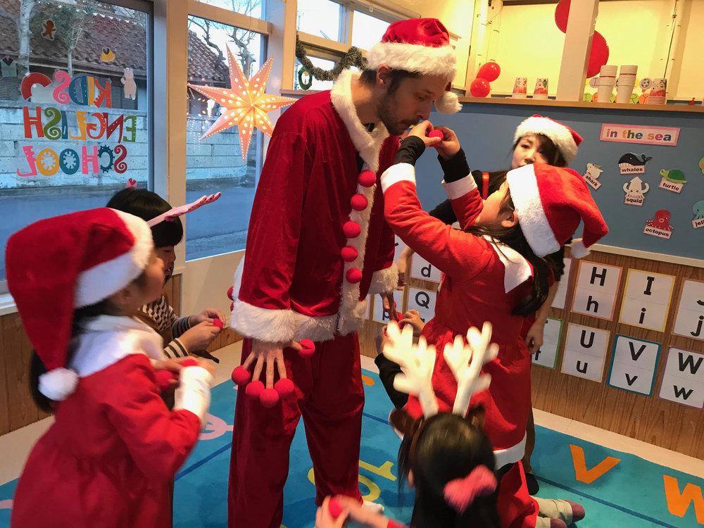 On Santa......(先生にも!!!)