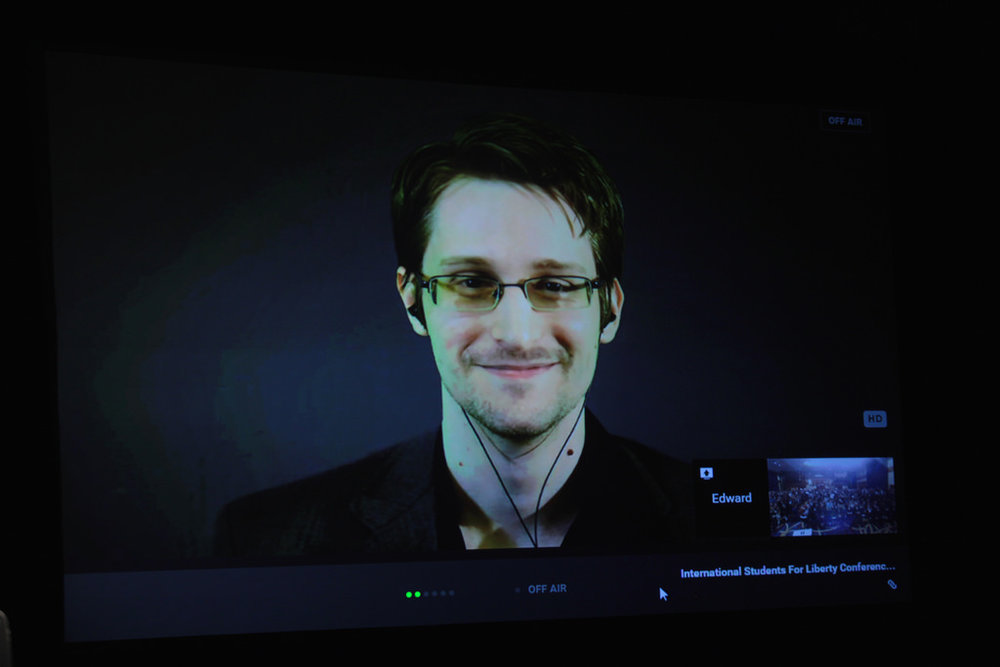 Edward Snowden  is a former Central Intelligence Agency (CIA) analyst and computer science expert and who leaked classified information from the NSA. He continues his personal mission abroad warning and educating about an emerging survielance state and its abuses.