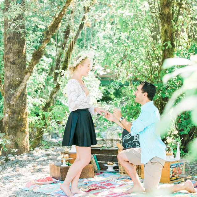 So excited to be able to share these pictures! A beautiful #surprise re-proposal with a lovely couple. Full details on the @realweddings blog! We worked hard to make this #picnic with a great team of vendors! #proposal #engagement #romance #romantic #engaged #surpriseproposal #shesaidyes #shesaidyesagain! #DoOver