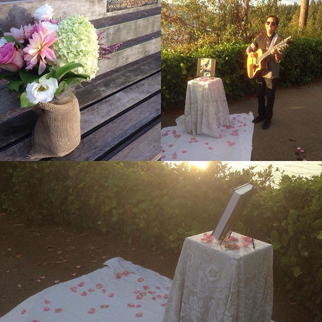 A few more pictures from our #surprise #proposal on the weekend! With the talented @ruelmorales on the guitar!  #propose #engaged #engagement #music #sunset #StanleyPark #vancouver #vancouverevents #yvr #proposalplanning #surpriseevents