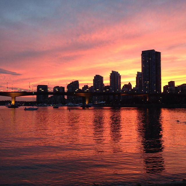 Beautiful #sunset over #FalseCreek tonight! Loving #vancouver!  #yvr #beautiful #nofilter