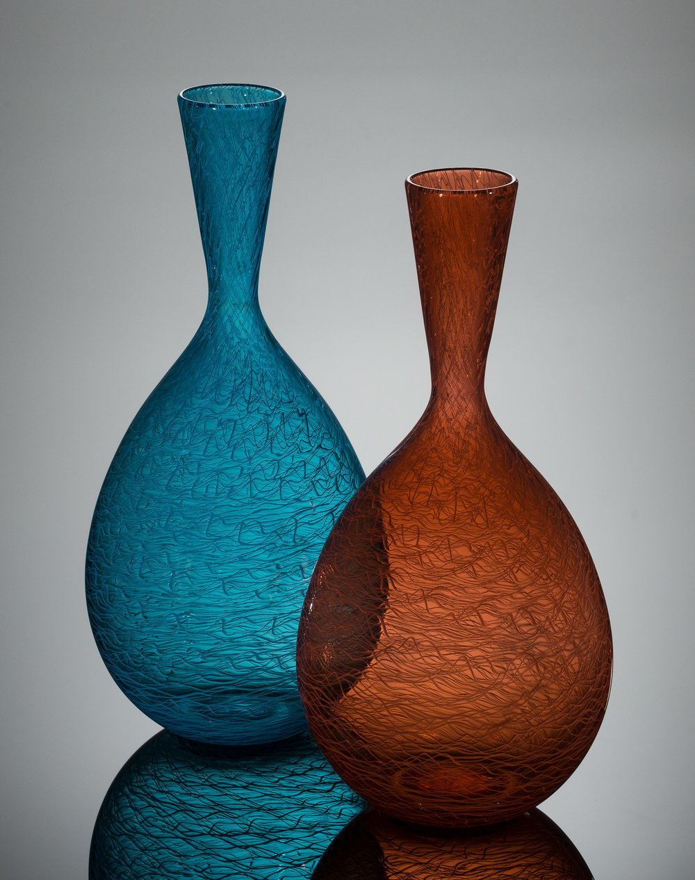 Dave_Strock_Glass_Ripple_Vases