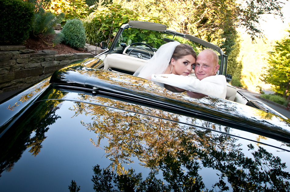 Hilary & Michael Wedding Classic Car 1