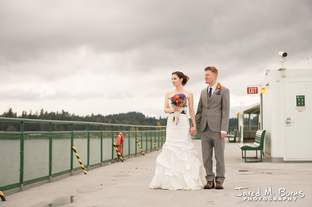 Kyle & Stephanie - Echo Falls and Washington Ferry Wedding Photographer - Jared M. Burns Photography