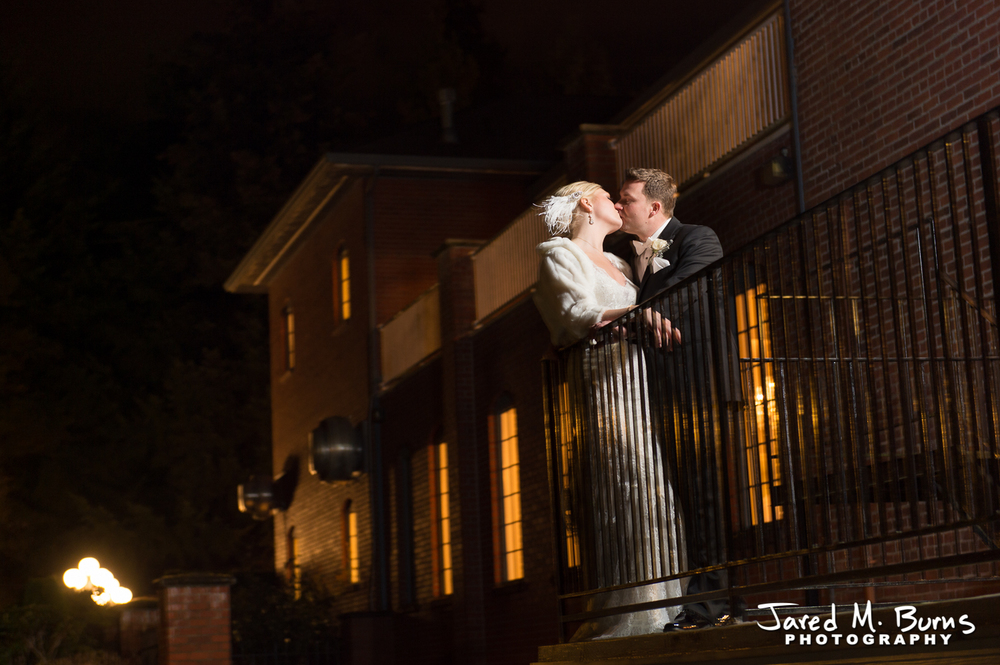 Seattle Wedding Photographer, Jared M. Burns - Hollywood School House Woodinville at night.jpg