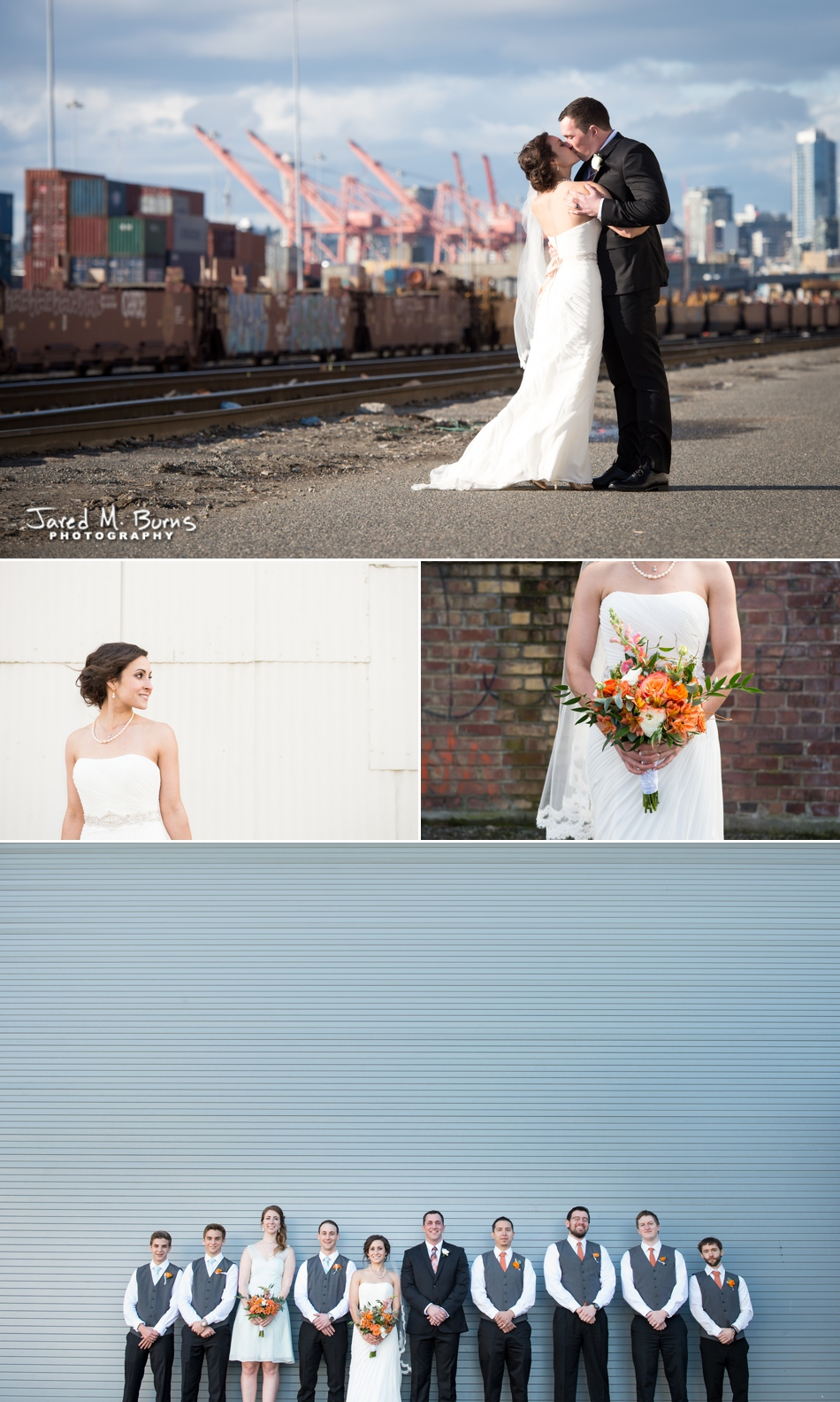 Seattle Wedding Photographer, Jared M. Burns - Sodo wedding near Seattle train yards