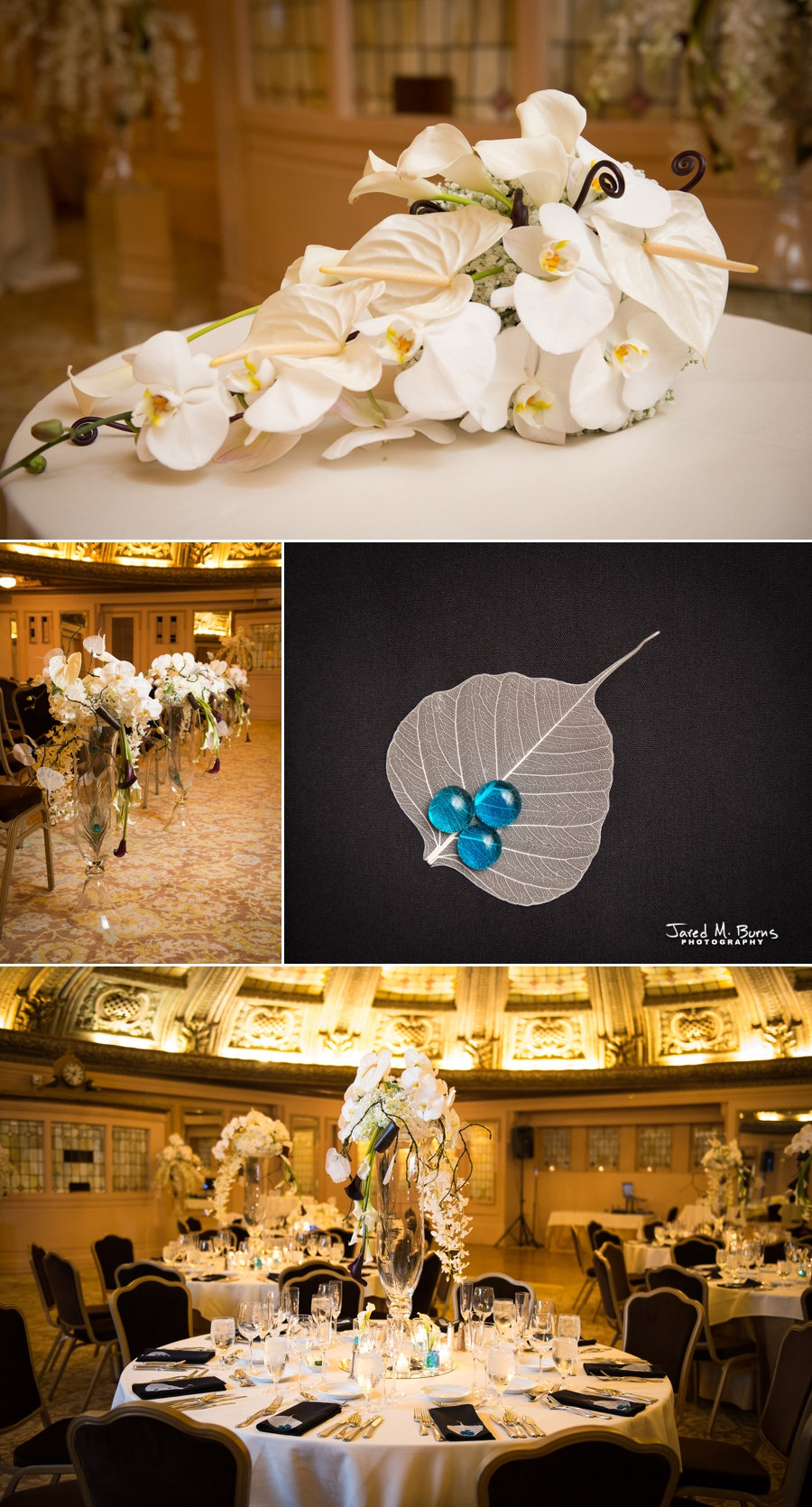 Seattle Wedding Photographer, Jared M. Burns - Arctic Ballroom Flowers Wedding Decor
