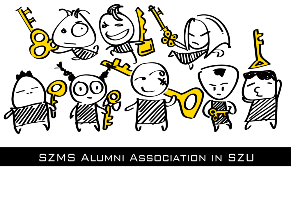 T-shirt cartoon design for SZMS Alumni Assn.