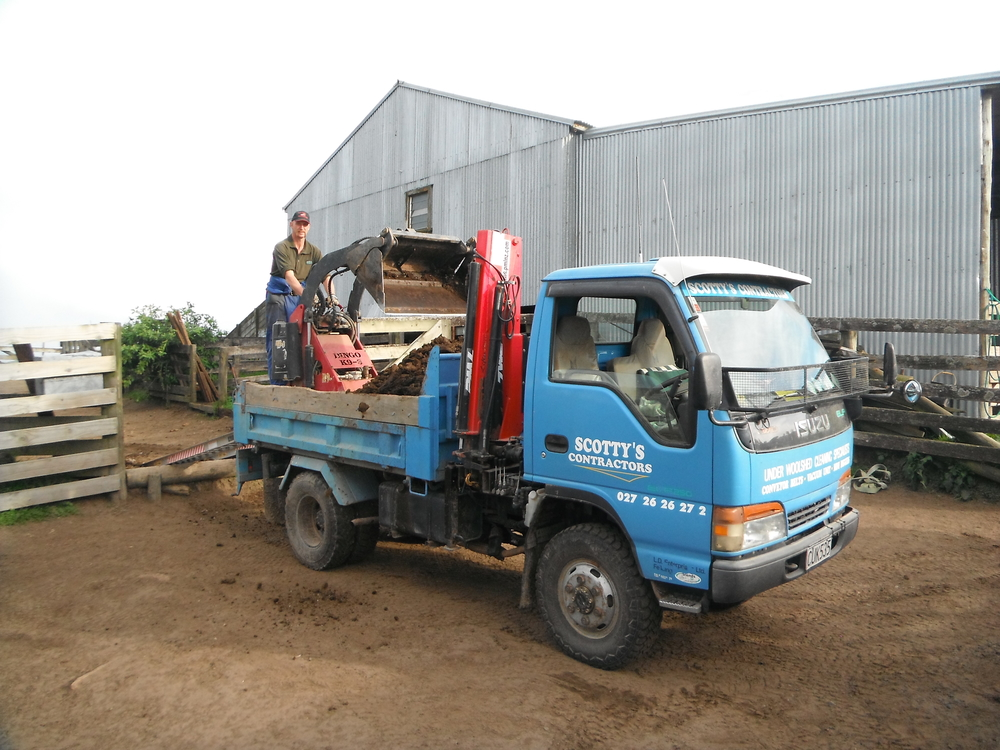 Emptying into the truck