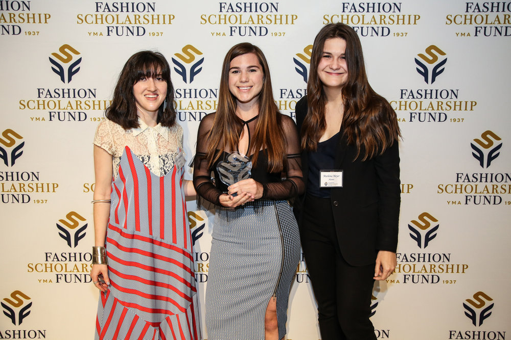 Co-Founder Maggie Bacon with Alumni Association directors Felicia Podberesky and Marlena Meyer