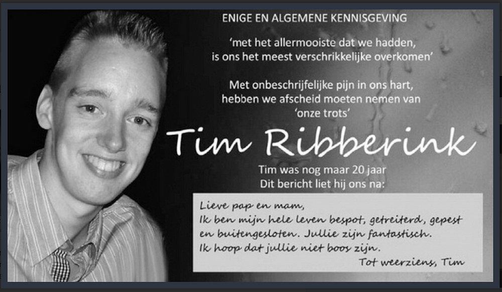 Tim zag het leven niet meer zitten
