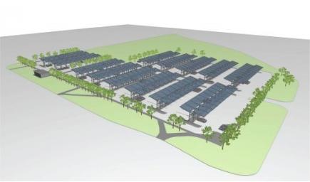 Stora solcellsanläggningar på och vid Skaraborgs sjukhus.    På taket till Skaraborgs sjukhus projekterar vi Sveriges största solcellsanläggning på ett enskilt tak. På sjukhusets parkering har vi projekterat en specialanpassad anläggning där solcellerna är delvis transparenta för att få en tydlig koppling till elbilarna som skall laddas under dem. Läs mer här:  Skaraborgs Läns Tidning , Skövde Nyheter , Sveriges Radio .