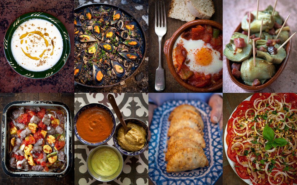 Regional cuisine photographed by Tim Clinch in Andalucia, Spain