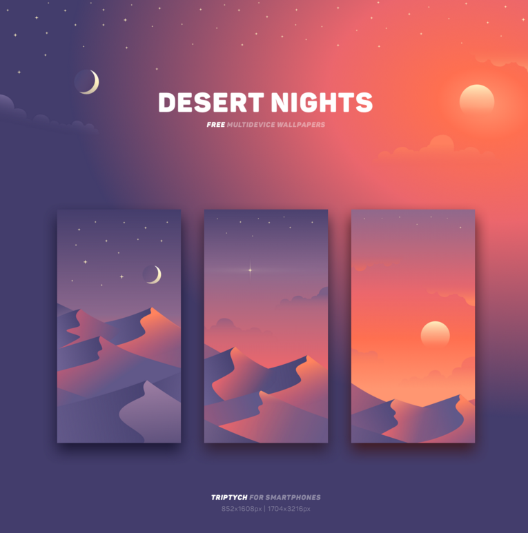 Desert Nights - free wallpapers on Behance