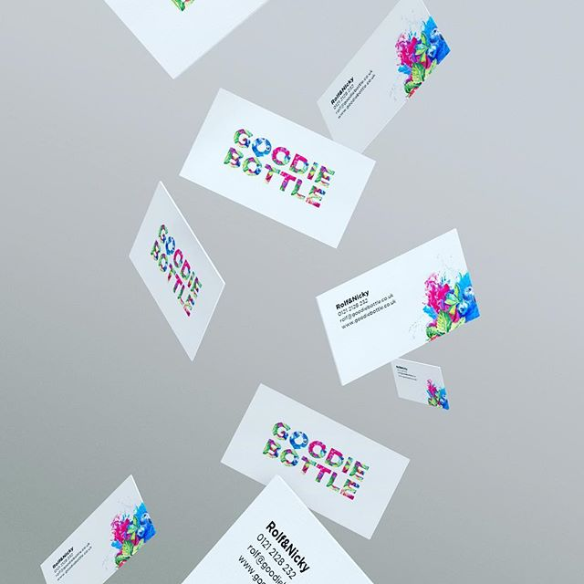 Awesome #businesscards for the #Dutch based #fruit #tea company #goodiebottle, finally got these sent out, hopefully get some samples shortly! Checkout our website next week for the #branding project.  #branding #business #cards #colour #design #agency #fruittea #inspiration #project #warwickshire #amsterdam
