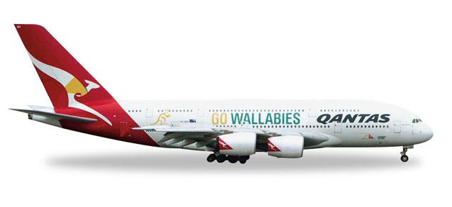 "528917  Airbus A380-800 ""Qantas, Go Wallabies"""