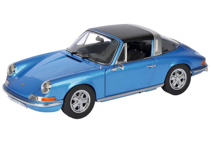 450035400  Porsche 911 S Targa 1973, blauw, Schuco