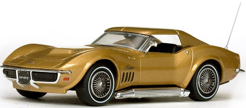 36249  1969 Chevrolet Corvette Coupé, Riverside goud, Vitesse
