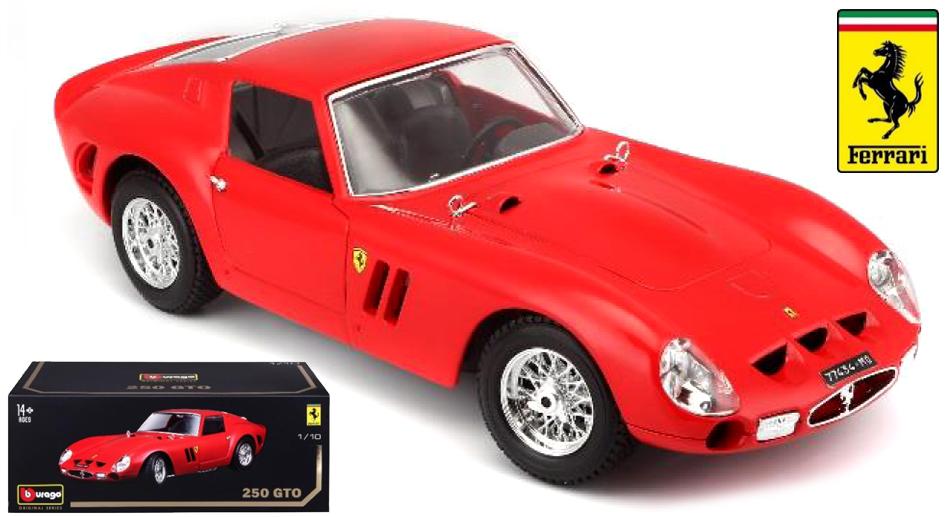 18-16602R  Ferrari 250 GTO, rood, Bburago